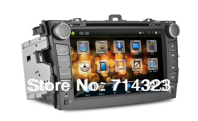 Car DVD Car GPS for Toyota Corolla 2007 2008 2009 2010 2011 with Bluetooth,AUX function, FM/AM Radio,Free 4G SD card with Map(China (Mainland))