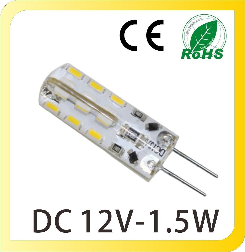 DC 12V 24 SMD3014 1.5W G4 LED Lights Bulb Energy Saving Mini LED Corn Candle Lighting For Chandelier Home Indoor(China (Mainland))
