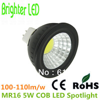 AC/DC12V MR16 COB LED Bulbs 5W Spotlight Lamp 500-550Lumen 2 Years Warranty 5pcs/lot