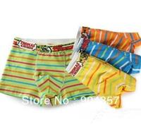 Wholesale 12 piece Cotton Thomas Kids Panties Underwear Boys Underpants Solid Horizontal Stripes Wide Waist Shorts  Boxer Briefs