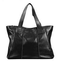 Top Handbags2014 black genuine leather bags messenger shoulder  women handbag messenger bags leather handbags bag free shipping