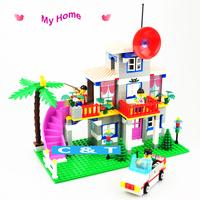 Enlighten Villa My Home Building Block Toy Educational DIY Construction Bricks Toys for Girls Compatible Blocks Gift