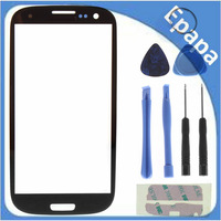 High Quality Screen Glass Lens Replacement digitizer for Samsung Galaxy SIII S3 i9300 with Tools - Black