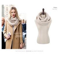 Fashion style Unisex Winter knitting Wool Collar Neck Warmer woman Ring Scarf Shawl Scarves