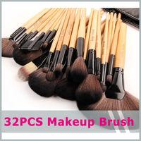 Wood Black 32Pcs Kit Brush Lot Makeup Brushes Professional Cosmetic Make Up  High Quality  Free shipping 32 pcs /lot = 1 set