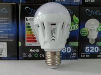 E27 5W 320-360LM 6000-6500K 20x5050SMD Cold White LED Bulb (100-240V)