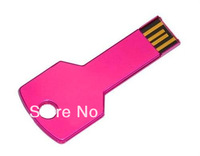 Wholesale custom Key Usb flash drive 100pcs/lot metal U disk 128M/256M/512M/1G/2G/4G/8G/16G/32G  free  logo Free DHL shipping
