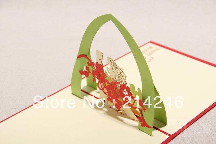 atacado convites de casamento de laser cut casamento cartão elegante do convite cartões de casamento 3D com envelope requintado(China (Mainland))