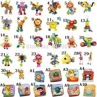 5pcs you can choose style Lamaze Toy Crib toys  rattle teether infant early development plush lamaze plush toy