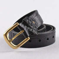 First layer of cowskin strap belt free shipping Genuine leather cowhide belt high quality needle buckle YB1289