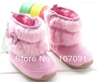 Infant Boot for baby girl Bow Adorable Toddler boots Soft and comfortable shoes, baby girl learning to walk Plush winter Autumn