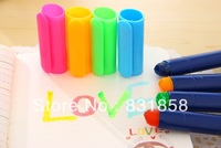 Korea Stationery Solid Jelly Neon Pen Multicolour Doodle Marker Crayon Pen Free Shipping
