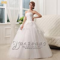 lace wedding dresses tube top bandage paillette bridal cheap wedding dress new 2014 ball gown flower vestido de noiva strapless