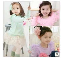 LEO FASHION baby children clothes child clothing girl's princess cardigan baby T-shirt  free shipping KS-137