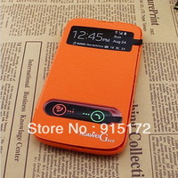 High Quality S View Battery Housing Flip Leather Back Case Cover for Huawei G610 G610s With Screen Protector (HW005)