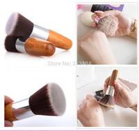 1PC Professional Flat Top Buffer Foundation Powder beauty Brush Cosmetic Make up brushesTool Wooden Handle
