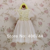 2015 Girls toddler flower dress,kids wedding party dress,5pcs/lot,THX01