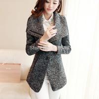 2015 autumn and winter small women's woolen medium-long slim elegant wool coat woolen outerwear in stock free shipping
