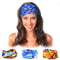 Trending Square Scarf Headband Bandana Headwear Outdoor Sporting Seamless Wear Bicycle Scarf Cover Ears