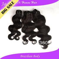 Unprocessed Virgin Brazilian Hair Body Wave Jack Hair Shop Hot Sell Beauty Cabelo