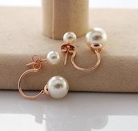 two wear way pearl stund earrings gold plated earring jeakcts ,A9158 -23