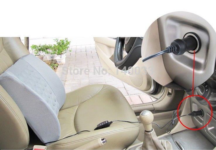 Free Shipping Car Vehicle Electrical Massage Back Seat Lumbar Support Cushion Pillow Wholesale 21064(China (Mainland))