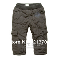 New 2014 Brand Children Clothing Autumn / Winter Pure Color Baby Boy / Girl Thick Ski Pants Kids Casual Trousers Sport Pants