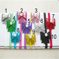 Girls Headband sequined bow Baby Hairbands Infant headwear children accessories HJF-418
