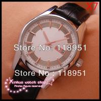 2014Christmas gifts! Sapphire belt automatic mechanical Swiss watch luxury watches men's fashion business  O279