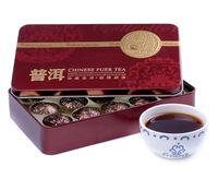 Ripe puer tea cake,Yun nan pu er tea ,old tea tree 75g /box, gift iron box 15 pieces/box ,chinese tea T3