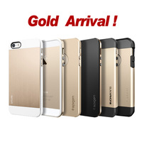 New Arrival Champagne Gold SGP Case for iPhone 5 5S SPIGEN Hard Cover 5 Styles Bumblebee Slim Armor Linear EX Saturn Tough Armor