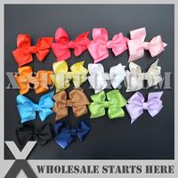 """Free Shipping 3"""" Ribbon Bows,Hair Bows for Baby/14 colors mixed"""