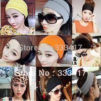 Women's Yoga Sport Dance Biker Wide Headband Stretch Ribbon Hairband Elastic Turban Hoop 6 Colors
