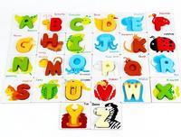 wooden toys, montessori teaching AIDS, children's educational toys, intelligence letter puzzles, cognitive alphabet