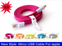 New Style  Mirco USB Cable for apple iphone 5 ipadmini ipad4  5 color Free shipping