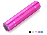 RAVPower Lipstick 3000mAh Portable Power Bank Battery Charger With Built-in Flashlight for Celular iPhone 4 4s 5 Sumsung, Pink