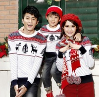 3 Pcs for Family set cotton parent child Christmas tree reindeer sweater for men/women/child family matching Christmas sweaters