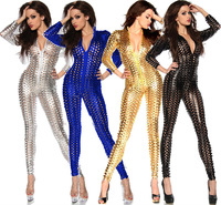 4 Colors 2014 Newest! Sexy Clubwear, Women's Party Evening Bandage Bodysuit, Hole Sexy Punk Rock Club Jumpsuit For Ladies 1170
