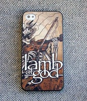 New Custom Made High Quality Color Printing Lamb Of God Hardcore Grindcore Ashes of the Wake Plastic Case for iPhone 5 5G