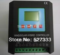 MPPT 1000W Wind Solar Hybrid Charge Controller 12/24V Auto, (600W Wind+400w solar), Electronic Brake Function & Dump Load