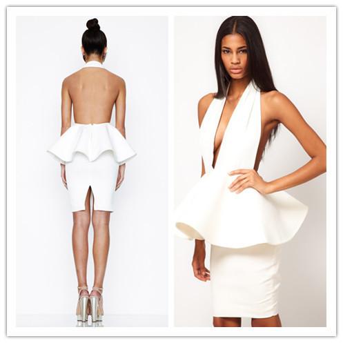 White Dress Low Cut Low Cut Back Party Dresses