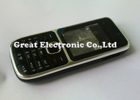Black,Mobile phone Housing for nokia c2 c2-01 replacement repair cover case+keypad+faceplates+spare parts; Free Shipping