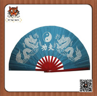 Chinese Traditional Handmade Kung Fu Tai Chi Fan with dragon and phoenix 33cm/36cm