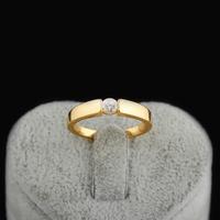 Hot Sale Brilliant 18K Gold Plated Round Cut White Zircon Wedding Rings  yilia jewelry