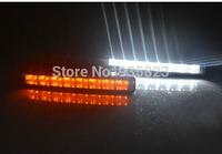 10W 2*8 E4 LED Car Daytime Running Light DRL + turn signal lights, DRL waterproof  car light source  parking light