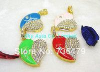 Free Shiping jewelry usb flash drive 4gb 8gb 16gb 32gb pen drive love heartpendrive crystal gift hard disk gadget usb memeory