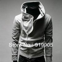 2013 autumn and winter outerwear male localize casual with a hood sweatshirt slim black cardigan hoodie Free shipping
