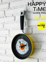 Fashion wall clock.mute digital clock eggs creative wall clock