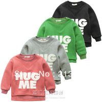New 2013 Novelty Design Brand Children Clothing Baby Boys Girls Long Sleeve Thick Warm Hoodies Sweatshirts Kids Thicken T shirt