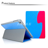 Hybrid Wave Line Oracle Book Stand Fold Protect  Leather Case Cover for ipad Air 5 8 Colors 1pcs/lot Free Shipping